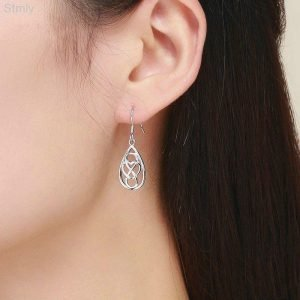 Sterling Silver Infinite Love Earrings for Women