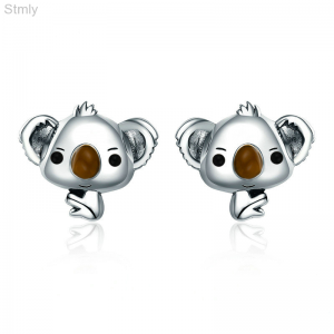 Sterling Silver Koala Earrings Stud for Women