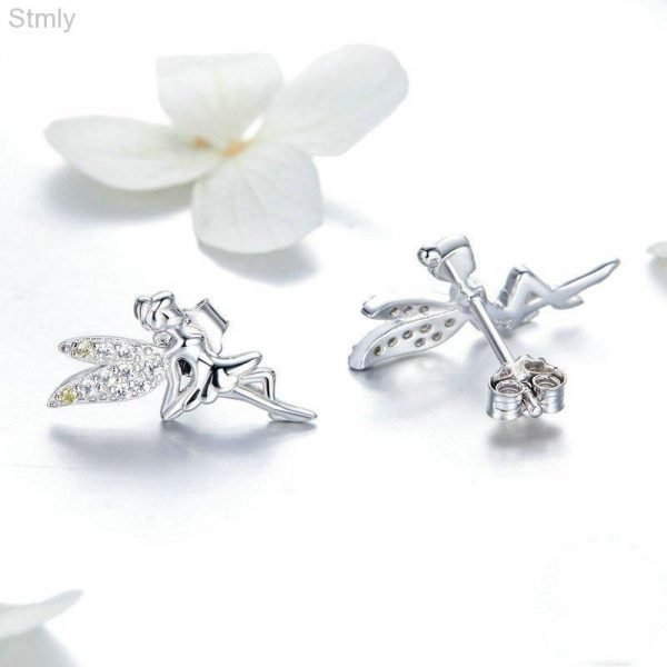 Sterling Silver Fairy Earrings for Women