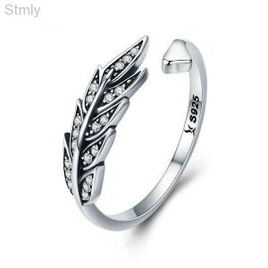 Sterling Silver Feather Ring for Women