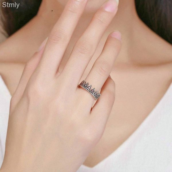 Sterling Silver Crown Promise