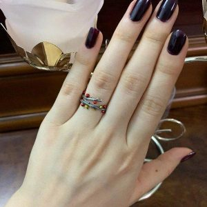 Sterling Silver Tree Branch Engagement Ring for Women
