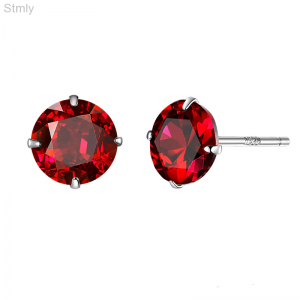 Sterling Silver Square Cubic Zirconia Earrings for Women