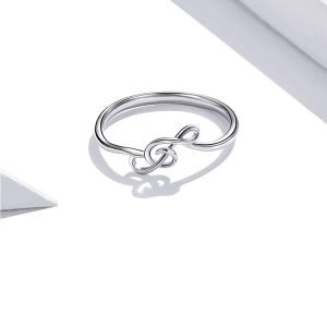 Music Note Ring Sterling Silver for Women